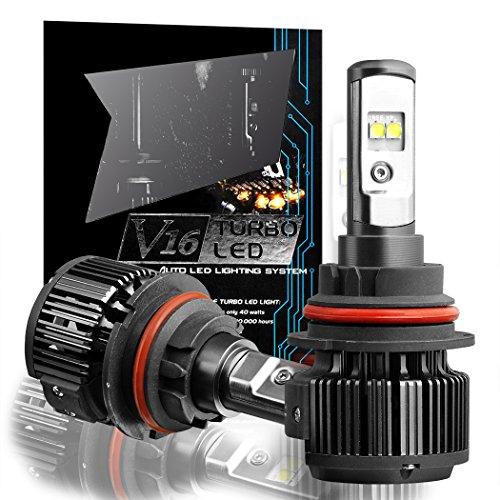 TECHMAX 9007(Hi/Low) LED Lampen Scheinwerfer kit, Umrüst 7,200lm 80W 6,000K kühles weiß CREE - 3 Jahre Garantie