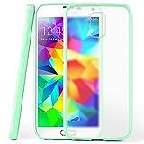 moex Samsung Galaxy S5 Mini | Hülle Slim Transparent Mint-Grün Impact Back-Cover Dünn Schutzhülle Silikon Handy-Hülle für Samsung Galaxy S5 Mini Case TPU Tasche Matt
