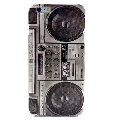 jbTec® TPU-Case / Hülle zu Apple iPhone 6 Plus / 6s Plus - MOTIV - Handy-Schutzhülle, Motiv / Muster:Cassette Recorder