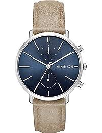 Michael Kors Hombre Reloj de pulsera analógico cuarzo One Size, Azul, Marrón/Azul