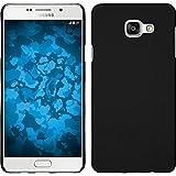 Coque Rigide pour Samsung Galaxy A3 (2016) A310 - gommée noir - Cover PhoneNatic Cubierta + films de protection