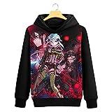 Cosstars Sword Art Online Sao Anime Pullover Sudaderas con Capucha Cosplay Disfraz Hoodie Sweatshirt Outwear Abrigo Suéter Negro 2 XXL