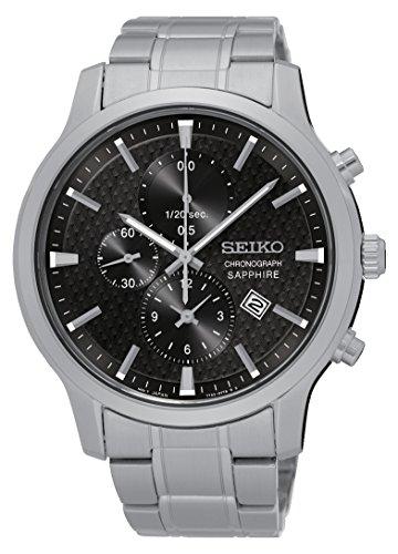 Seiko Herren Chronograph Quarz Uhr mit Edelstahl Armband SNDG67P1