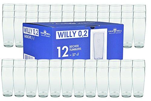 60er Set Bierglas Willibecher 0,2L geeicht