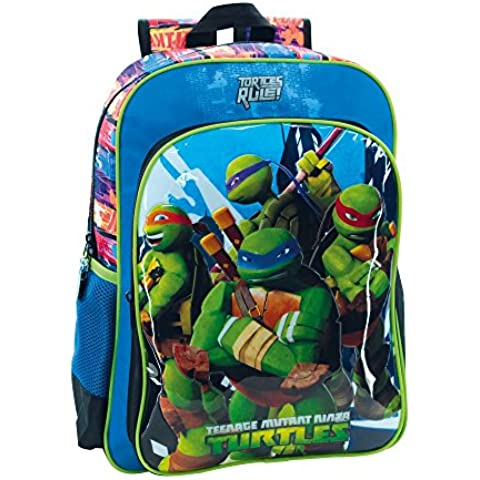 Tortugas Ninja 2562351 Turtles Building Mochila Escolar, 19.2 Litros, Color Azul