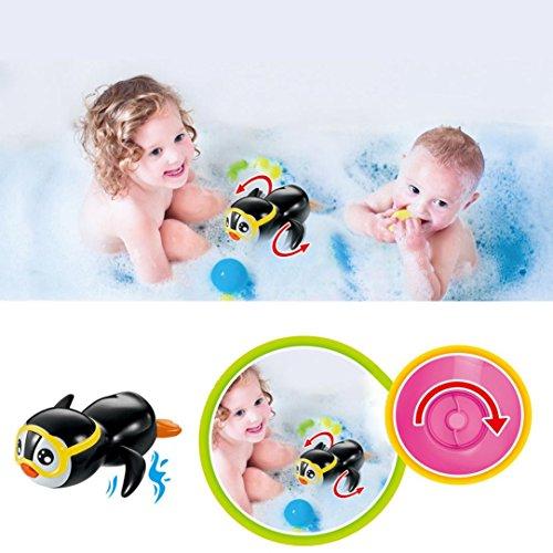 Schwimmen Pinguin, Sansee Clockwork Wind Up Schwimmen Pinguin Bad Spielzeug Geschenk (#1120, Schwarz)