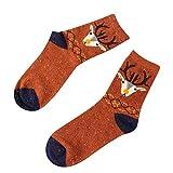 Fenverk Damen Socken Winter Thermo Vollfrottee Im Sportlichen Design Wollesocken Atmungsaktiv Warm Weich Bunte Farbe Premium QualitäT Klimaregulierende Wirkung (J)