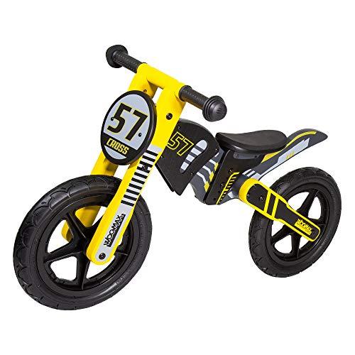 "WOOMAX - Bici sin pedales en madera Cross 57 12"" (ColorBaby 85370)"