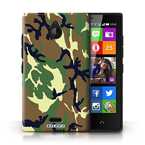 Kobalt® Imprimé Etui / Coque pour Nokia X2 Dual Sim / Bleue 2 conception / Série Armée/Camouflage Vert 4