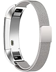 Fitbit Alta Armband,Teorder Milanese Loop Metallarmband Edelstahl mit verstellbarem Verschluss Magnetverschluss Austauscharmband / Sportarmband für Fitbit Alta HR / Fitbit Alta (klein/groß)