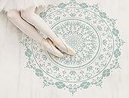 Mandala de fleurs - Pochoirs Muraux Scadinave - Décoration murale - Pochoir deco