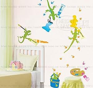 Cartoon Motif Gecko enfants ¡® s Chambre Stickers