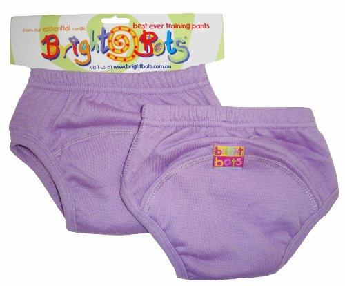 Bright Bots Unterhose für Töpfchentraining, Gr. XL / 30-36 Monate, Malvenfarbe, 2 Stück
