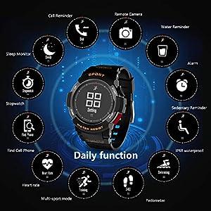 Orologi Corsa,Orologio Sportivo, Fitness Tracker per corsa, Orologi da Corsa Cardiofrequenzimetro Orologio, IP68 Impermeabile Intelligente Orologio uomo Donna Activity Tracker per iOS Android