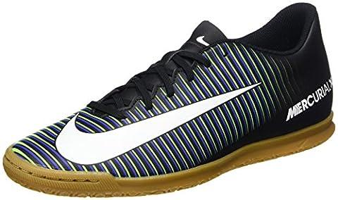 Nike Herren Mercurial Vortex Iii IC Hallenschuhe, Schwarz (Black/Wht-Prmnt Bl-Elctrc Grn), 40 EU