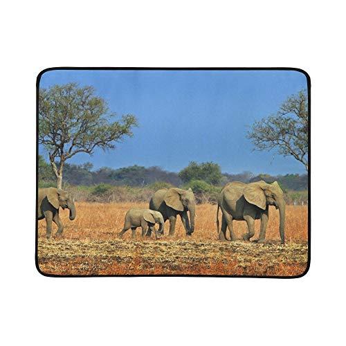 SHAOKAO Grupo Grande de Animales africanos Juntos Patrón de Manta de Manta...
