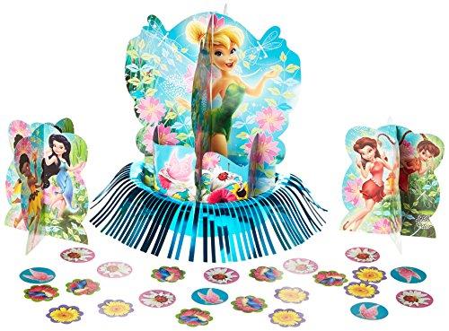 Amscan Disney Fée Clochette et Les Fées 3D kit de décoration pour Table de fête d'anniversaire, Multi Couleur, 12 3/12,7 cm.