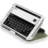 StilGut UltraSlim Case V2, Tasche mit Stand- und Präsentationsfunktion für Samsung Galaxy Note II, weiß