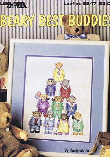 CafePress T Best Buddies Kreuzstich Diagramm Muster Pyramide der Boy Teddies (Kreuzstich Leaflet)