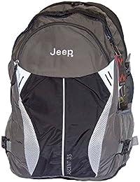 Jeep Ascent complet retour d'air Randonnée Voyage Sac à dos pour ordinateur portable douche preuve (Noir / Gris 35 Litres)
