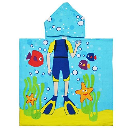Super Weiche Mädchen-bademantel (SEALEN Badetuch für Kinder mit Kapuze, Schnelltrocknende Super Weiche Cartoon Bademäntel 2-7 Jahre, Badehandtuch mit Kapuze für Jungen Mädchen Kinder Baby Bademantel)