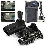 DSTE BG-E14 Poignée Batterie + 2x LP-E6 Batterie + USB Chargeur pour Canon EOS 70D 80D