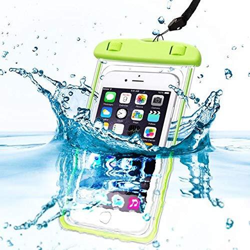 Slick-Prints Wasserdichtes, wasserdichtes, wasserdichtes IPX8-Geld-Passport-Mobiltelefon-Handy-Etui Trockenbeutel mit langem elastischem Lanyard für BLU Grand 5.5 HD II 700 Etui