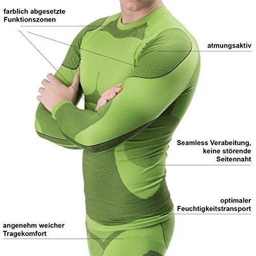 BlackSnake® Funktionsunterwäsche Herren Unterhemden Seamless Unterwäsche Sport Lime