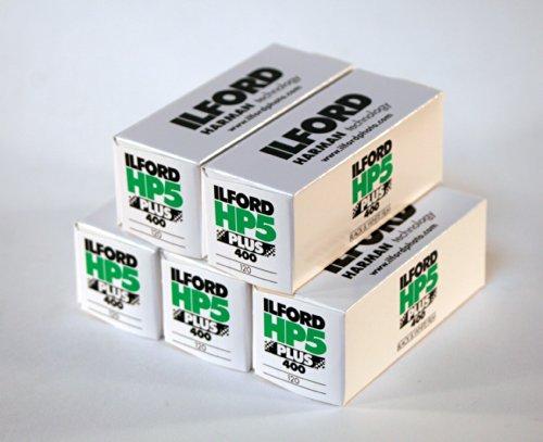 Ilford HP5Plus Rollfilm 120, 5 Rollen