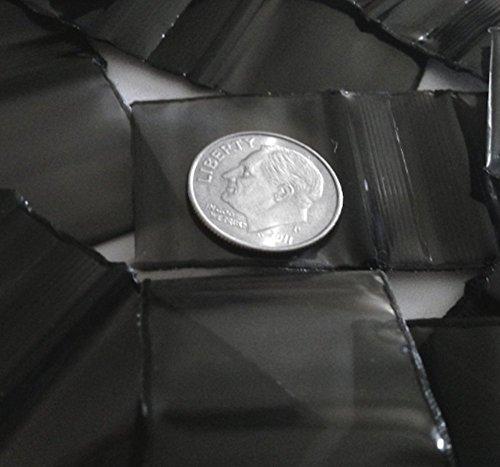 Kunststoff Ziploc Baggies 200–3,2x 3,2cm schwarz 2Mil
