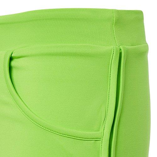 Sportkind Short 2-en-1 avec pantalon intérieur intégré pour Tennis / Volleyball / Sport pour Filles & Femmes vert fluo