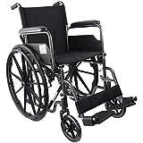 Mobiclinic, S220, Sedia a rotelle pieghevole premium, ortopedica, per disabili, braccioli pieghevoli, colore Nero…