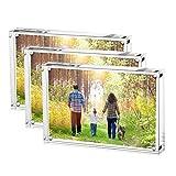Boxalls Marco de Fotos, Acrílico Transparente Marco Foto en Cristal Personalizado (10+10 mm de...