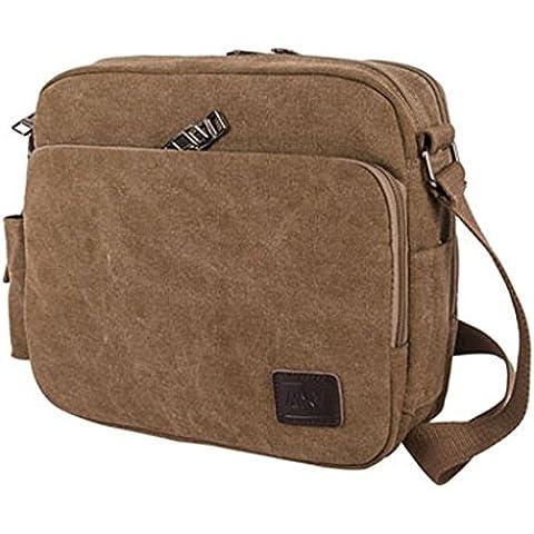 Outreo Bolsos de Tela Bolso Bandolera Hombre Vintage Messenger Bag Bolsos Originales Trabajo Bolsa de Lona para Estudiante Universidad Colegio Bolsas de Viaje Shoulder Bag