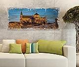 Holzbild 100x40cm Mezquita-Catedral von Cordoba Moschee Druck auf Holz Holzbilder Vintage Bild UV Foto Wandbild Wandbilder W0607, Holz Gr 1:100x40 cm