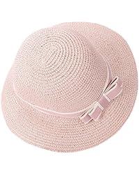 Fletion da donna donne estate elegante bowknot cappello di paglia spiaggia cappello  sole cappelli spiaggia cappello 89c4fc680f80