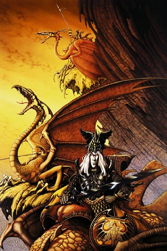 "Poster artistico The Dragon Lord, copertina Roxxcalibur ""Lords of the Nwobhm"", di Rodney Matthews"