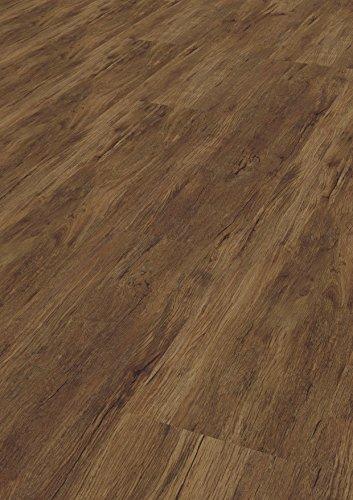 1 Paket (1,88 m²) PVC Bodenbelag / Vinylboden zum Klicken / HDF Klick - Kastanie rustikal -