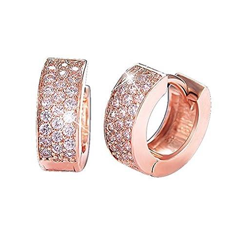 SunIfSnow Unusual Ring-Shape Hoop Fancy Clasps Earrings Golden