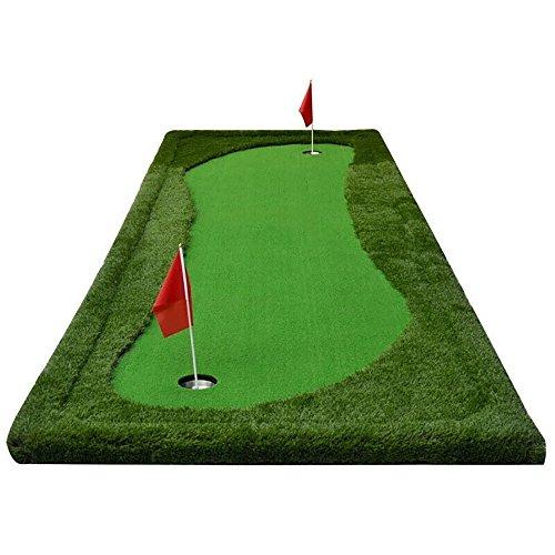 TLMY Indoor Golf Künstliche Greens Putting Exerciser Praxis Decke Set Putting Rod Golfmatten