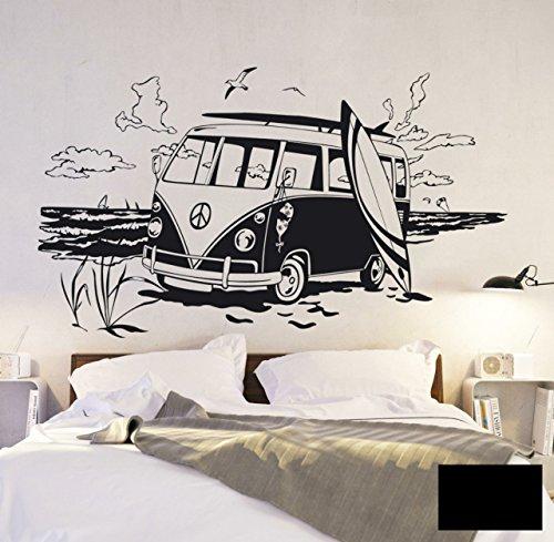 graz-design-adhesivo-decorativo-para-pared-diseno-de-surf-m1524-negro-l-100cm-breit-x-55cm-hoch