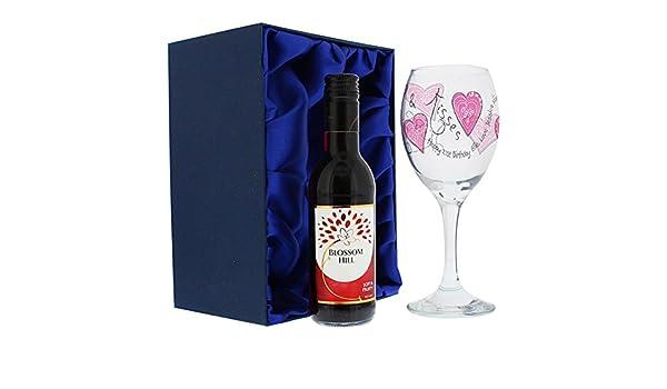Cmp set calici da vino rosso e cristallo personalizzato bella
