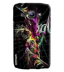 Omnam Colorful Feather Printed Printed Designer Back Cover Case For Samsung Galaxy J1