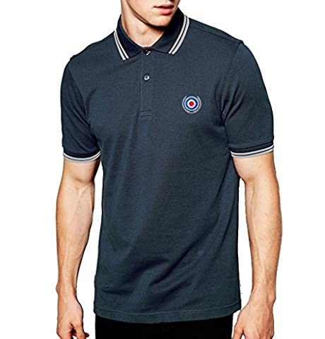 Mod Target Top Quality Embroidered Polo Shirt Men's Fashion Quality Heavyweight T-Shirt. Heather