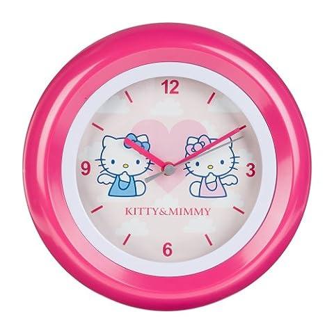 Hello Kitty kinder Wanduhr Analog Rosa HK28-5