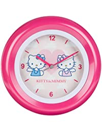 Hello Kitty kinder Wanduhr Analog Rosa HK28-5