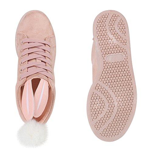 Bobble Das Lebre Senhoras Planas Baixo Rosa Pele Sapatos Casuais Sapatilhas Real qwF7w