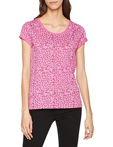 edc by ESPRIT Damen T-Shirt 028CC1K047, Rosa (Pink Fuchsia 660), Large