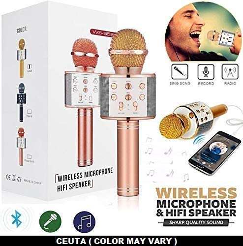 Handheld Wireless Microphone With Bluetooth Speaker For All IOS/Android Smartphones