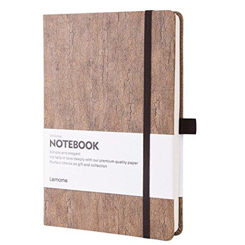 Notizbuch Liniert/Lined Notebook - Umweltfreundlicher Naturkork Hardcover Notizbuch mit Stiftschlaufe & Premium Dickes Papier - A5 (5x8) Gebundenes Classic Notizbuch - Lemome